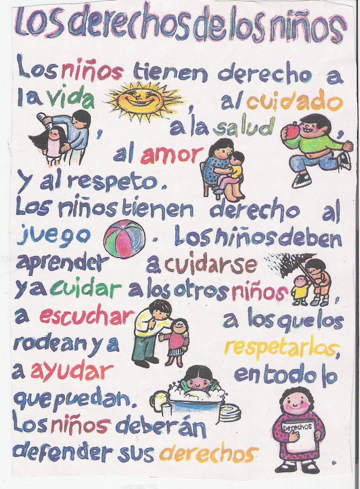 Deberes Y Derechos Del Nino Imagui Binder Cover Templates Binder Covers Transitional Kindergarten