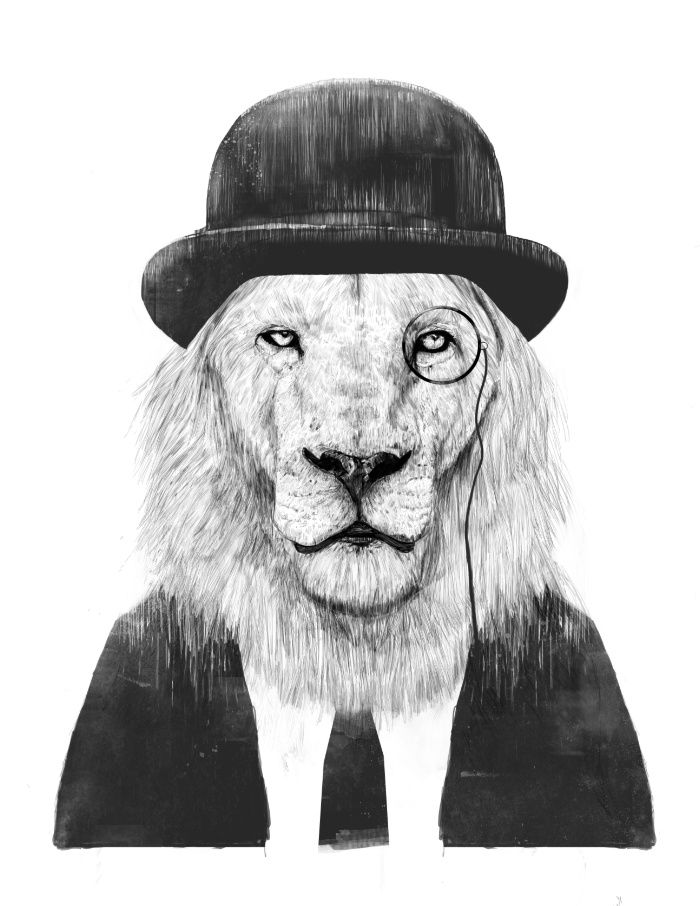 Sir lion Art Print by Balazs Solti. Worldwide shipping available at Society6.com. Just one of millions of high quality products available.