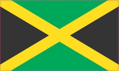 5 5x3 jamaica jamaican flag bumper sticker