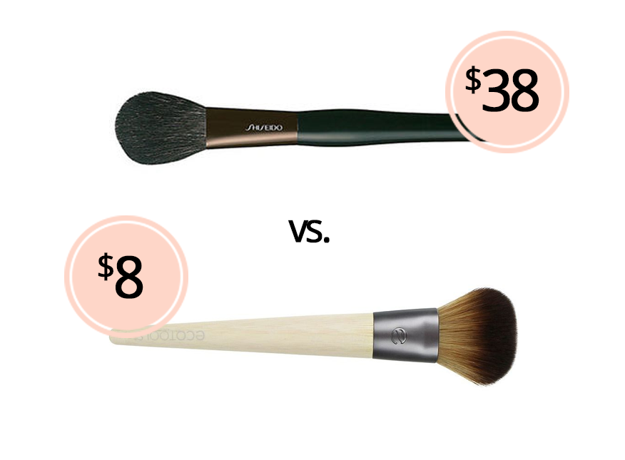 Blush Brush Dupe Shiseido Blush Brush vs. Ecotools