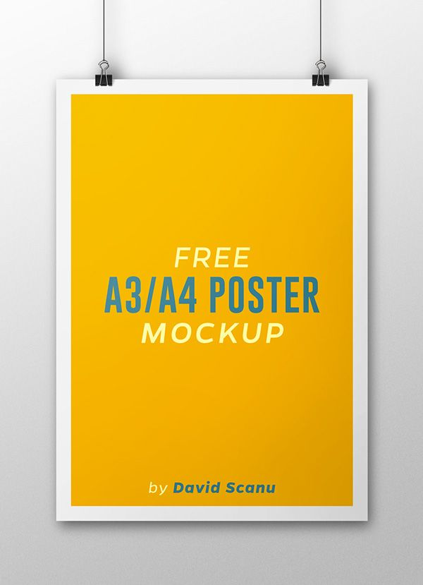Free A3 A4 Poster Mock Up On Behance Poster Mockup Free Poster Mockup Poster Mockup Psd
