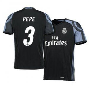 Real Madrid C.F 16-17 Season Third Black #3 Pepe Soccer Jersey [H411] |  cheap Real Madrid jersey | Pinterest