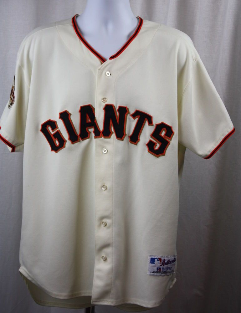 Russell Athletics Vintage Sf Giants Jersey Sewn Lettering Plus Patches Size 48 Sf Giants Mlb Giants Jersey
