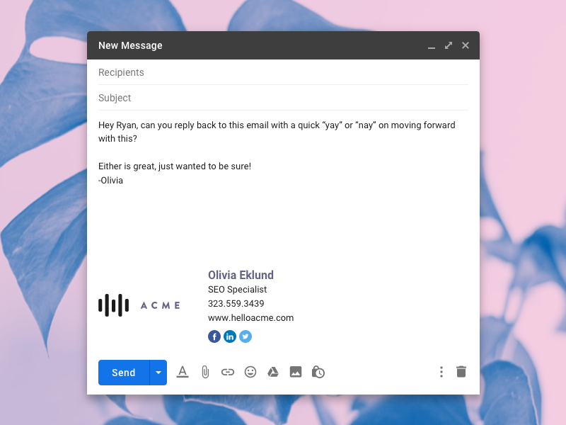 Pin on Email Signature For Gmail