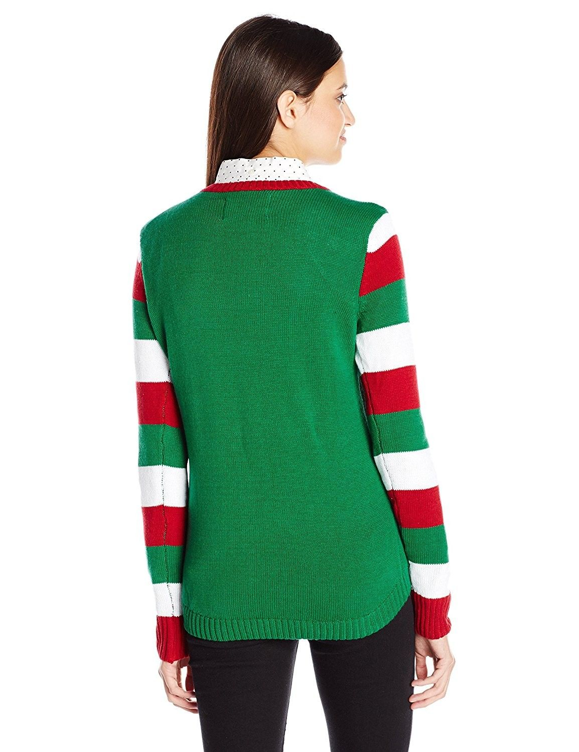 Ugly Christmas Sweater Juniors Upside Down Snow Man Pullover