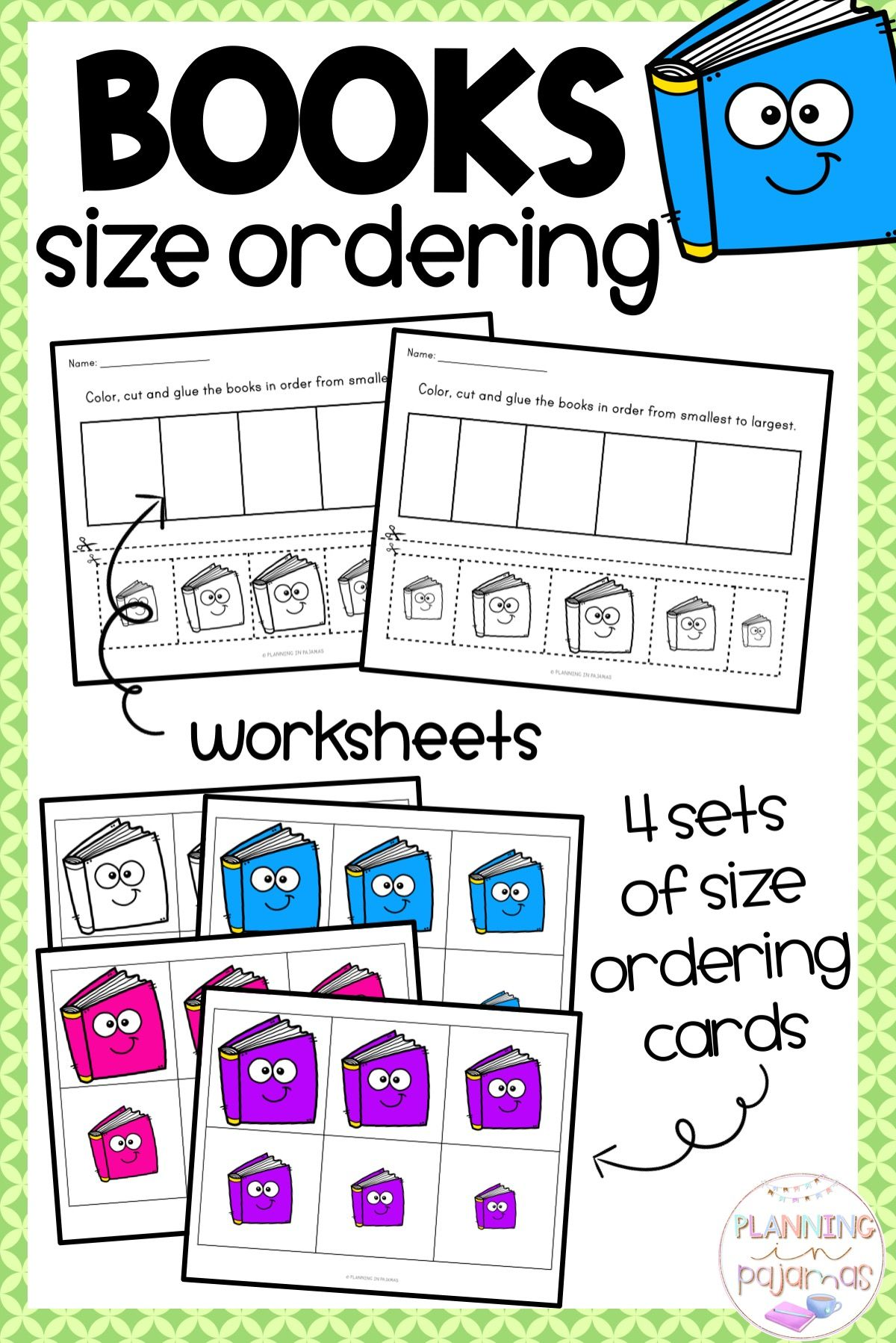 Size Ordering Activity To Include In A Back To School Or