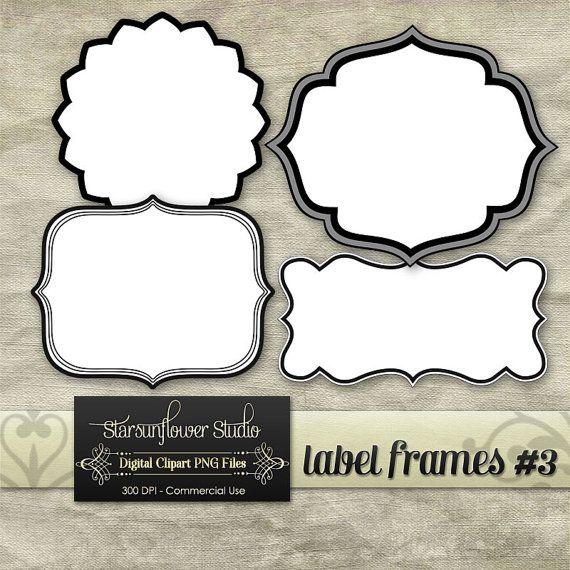 Journal Tags  Label Frames Clipart   Dpi Png  Set