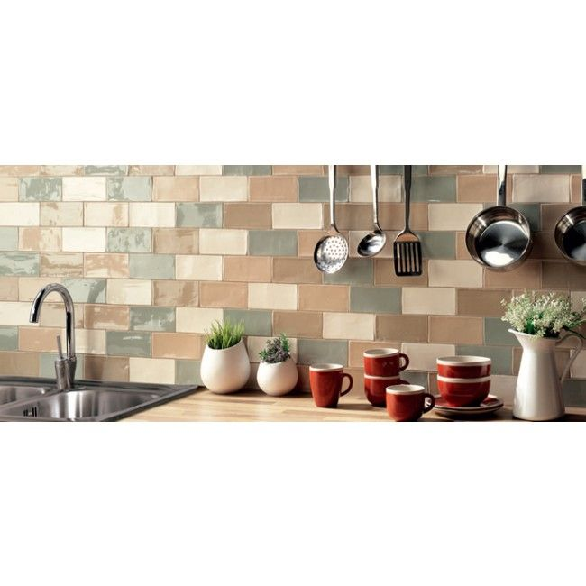 Perfect For Both The Country Or Modern Environment Cotswold Aqua 75 X 150 Wall Tile Adds A Rustic Feel To Any Kitchen Bathroom Blue Gl