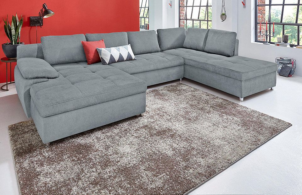 SitMore Wohnlandschaft XXL »Labene«, wahlweise mit Bettfunktion und - gemütliches sofa wohnzimmer