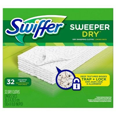 Swiffer Sweeper Dry Refills Unscented 32ct Swiffer Unscented Gain Scent