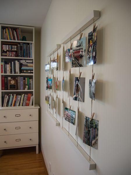 Embracing Simplicity Diy Clothesline Photo Wall Display Photo Wall Display Wall Display Photo Wall