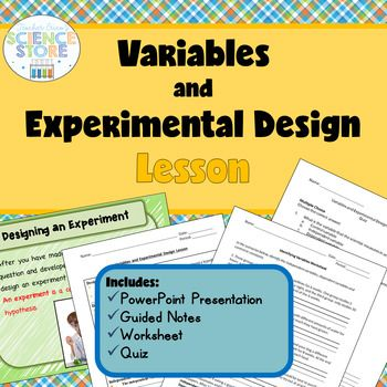 Variables And Experimental Design Lesson General Science