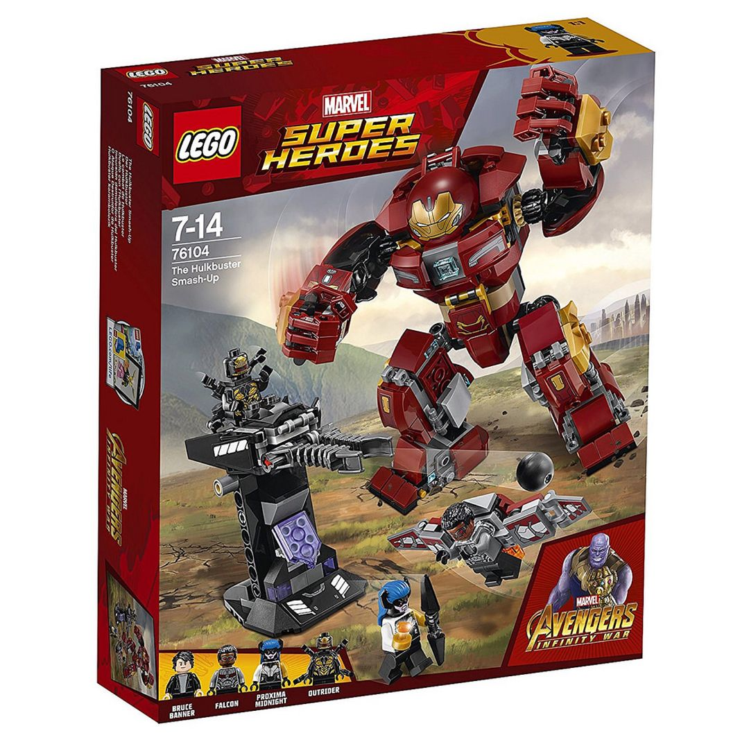 The Hulkbuster Smash Up 76104 375 Pieces Brucebanner Falcon Proximamidnight Hulk Outrider Lego Avenge Lego Marvel Super Heroes Lego Marvel Hulkbuster