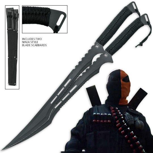 Deathstroke Swords Twin Deathstroke Swords Duo Two Piece