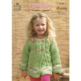 Sweater+and+Jackets+in+King+Cole+Comfort+Chunky+(3179)+£2.99