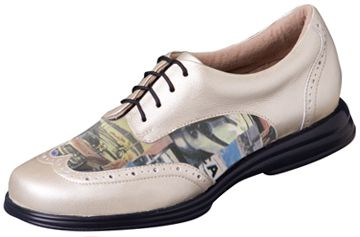 Sandbaggers Charlie Road Trip Ladies Golf Shoes – Gold & Photograph Lori's Golf Shoppe