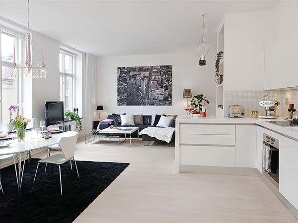 Risultati immagini per cucina soggiorno unico ambiente nel ...