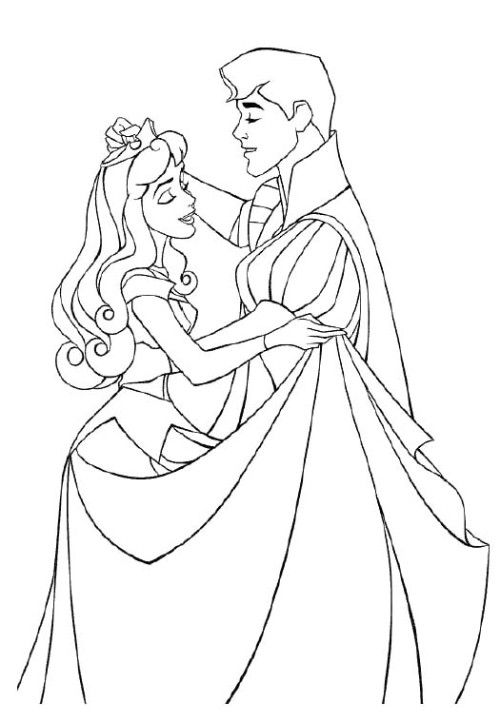 Prince And Princess Aurora Coloring Pages Sleeping Beauty Coloring Pages Dance Coloring Pages Princess Coloring Pages
