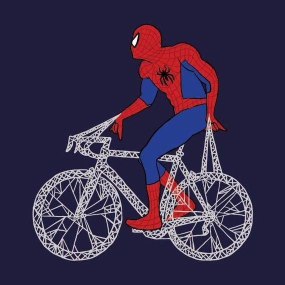 Spiderman web bike