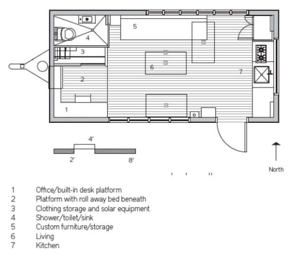 Tiny Home Designs: 210 Sq. Ft. Tiny Home: Minim Home Floorplan. Great Ideas