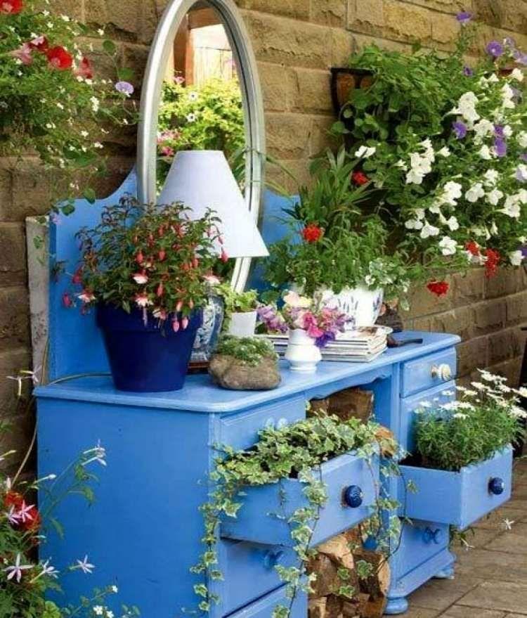 D co jardin diy id es originales et faciles avec objet de for Grandes plantes vertes originales