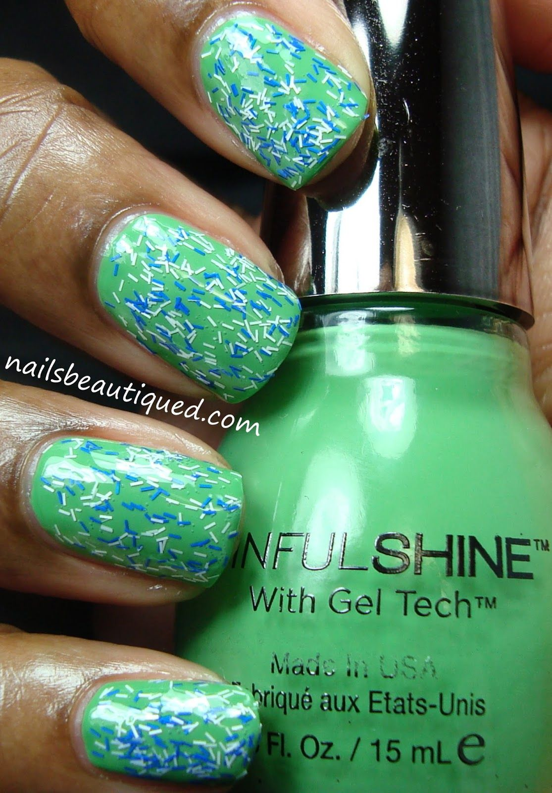 Sally Hansen Fuzzy Coat over SinfulShine In The Limelight | Nails ...