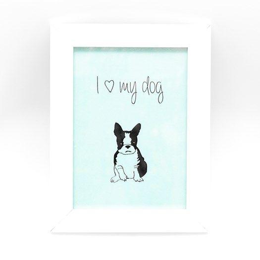 cuadro-i-love-my-dog