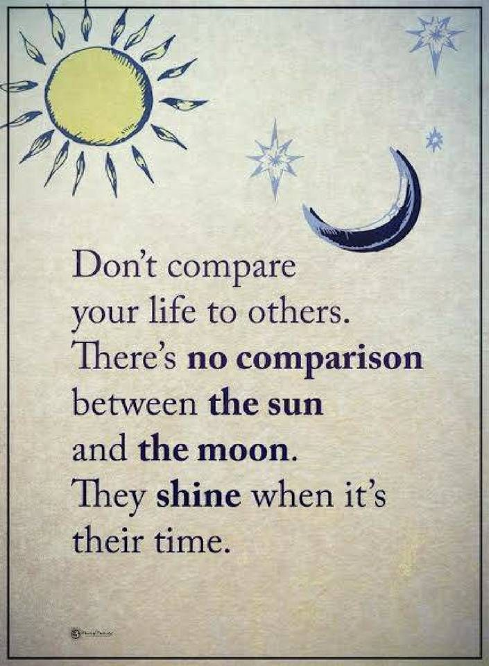 life quotes Don't compare your life to others. There's no ...