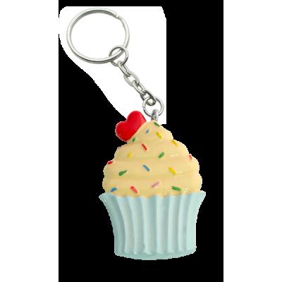 cherry be - Porte-clés cupcake « mon <3 »