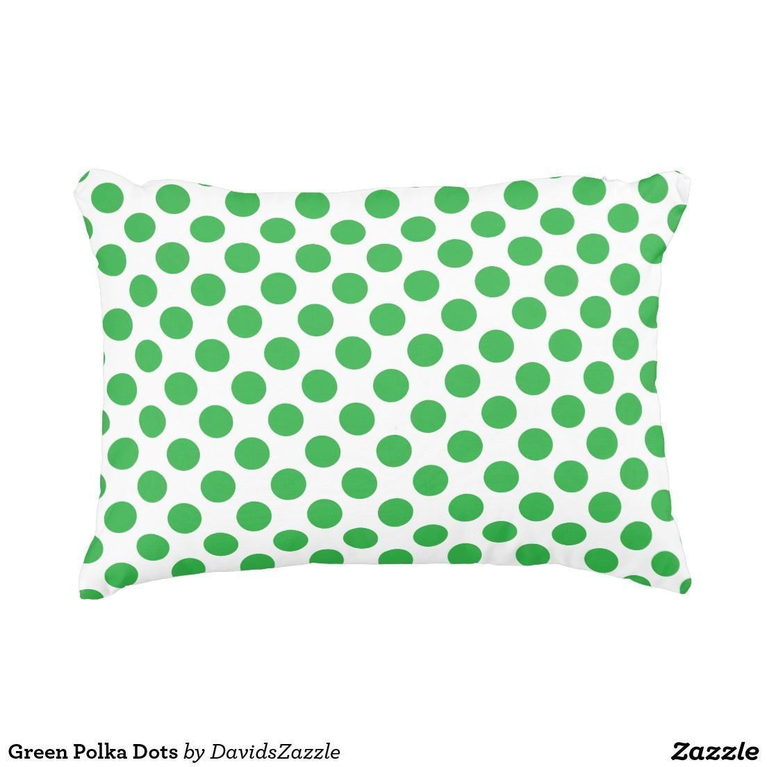 Green Polka Dots Throw Pillow Available on many products! Hit the 'available on'...