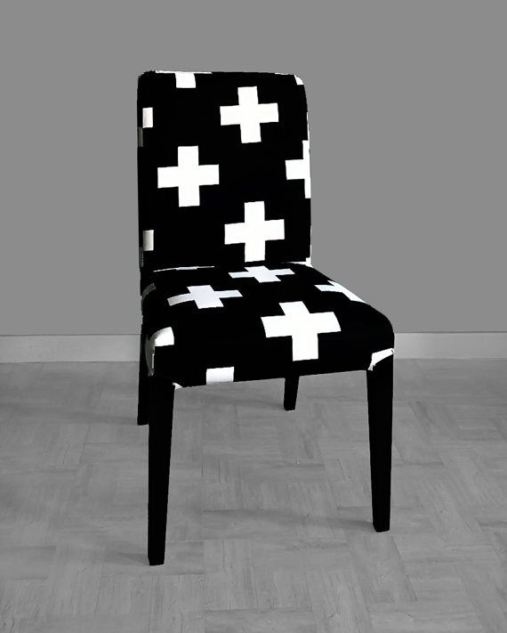 ikea dining chair covers black and white pipeless pedicure chairs canada henriksdal cover swiss cross by rockincushions