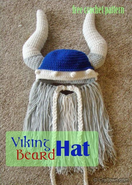 Free Crochet Pattern - Viking Beard Hat! | Crochet | Pinterest | Häkeln