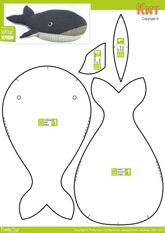 diy fabriquer un doudou baleine bbs molde de peluches. Black Bedroom Furniture Sets. Home Design Ideas