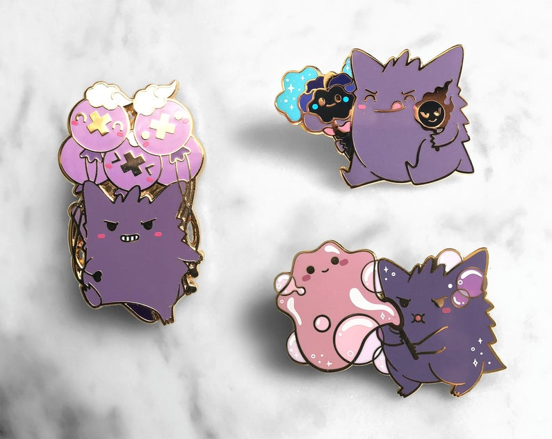 Cartoon Pokemon Gengar Pin Brooch Jewelry Collection