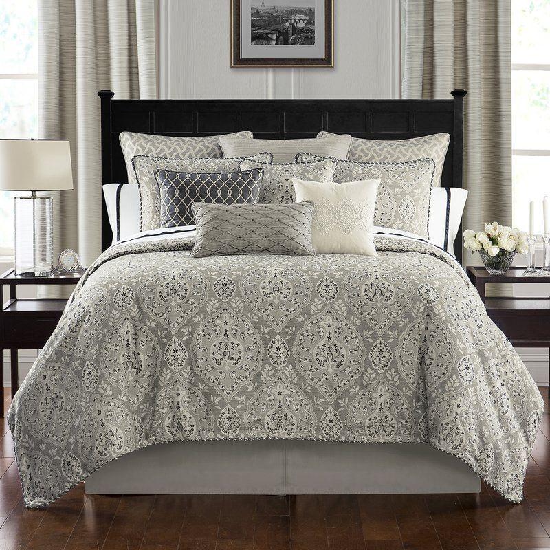 Waterford Bedding Bainbridge 4 Piece Reversible Comforter Set