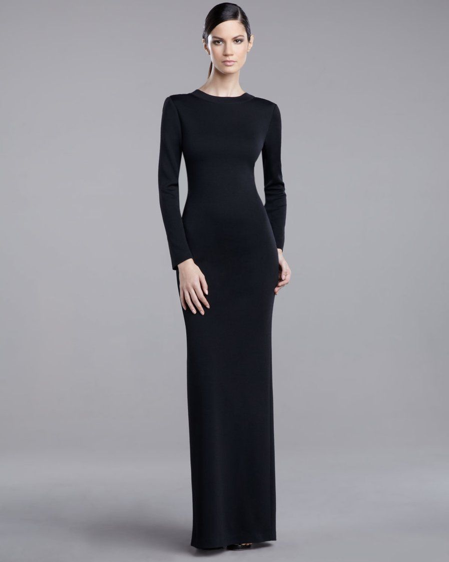 St. John - Shop Online - Evening - Milano Plunging-Back Gown ...