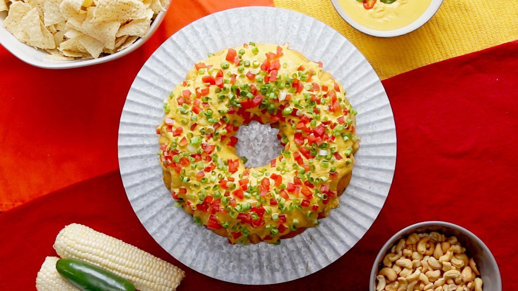 Vegan Jalapeño Cornbread Ring