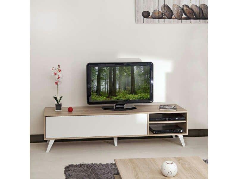 Meuble Tv Conforama 180 Delamaison Fr 130 Idee Deco Meuble Tv Meuble Deco Meuble Tv Style Scandinave