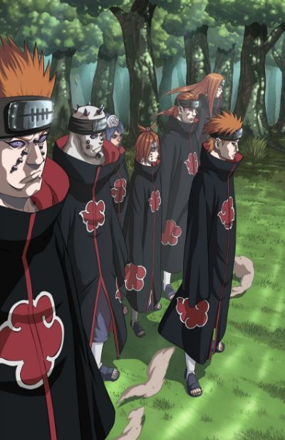 the six paths of pain is a very popular ninja organization from the original naruto anime