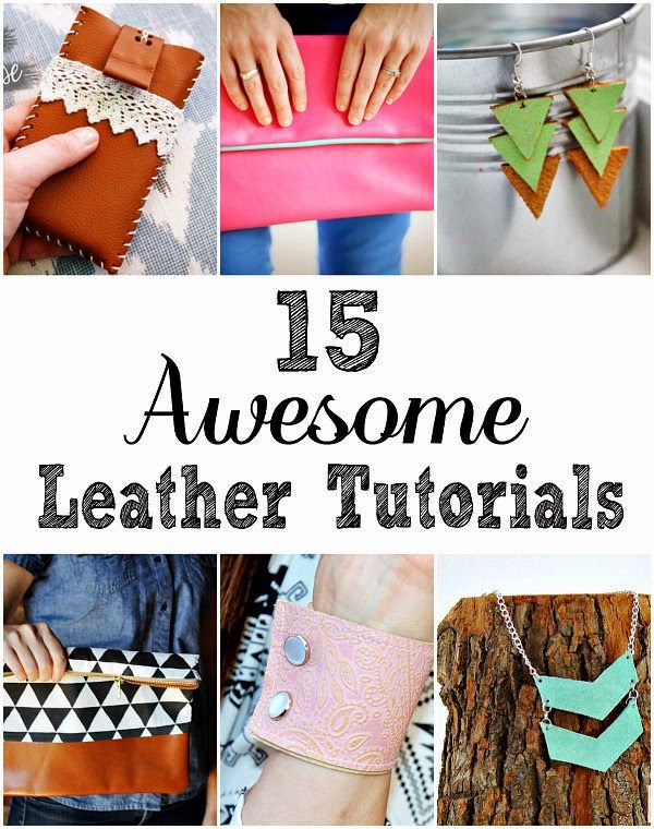 15 DIY Leather Projects  Leather clutch, leather jewelry, leather cuff | Crafting in the Rain