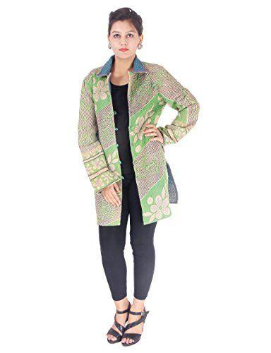 5fecdd7511 Jaipur Textile Hub Very Rare Vintage Anokhi Short Kantha Kimono Jacket  Reversible ( JTH-JBJ-68 ) 845262 CM ( L )
