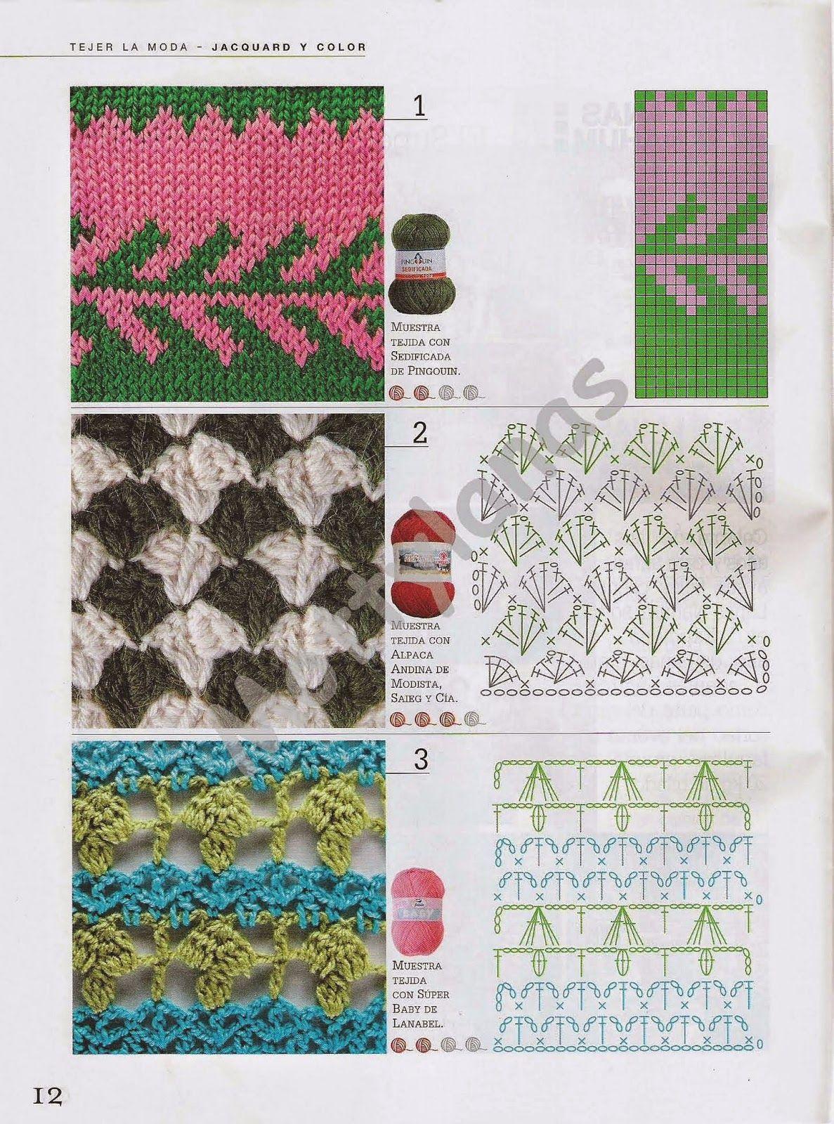revistas de manualidades gratis | Puntadas de croché con gancho ...