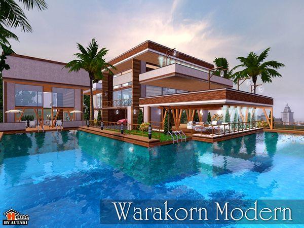 warakorn modern house by autaki sims 3 downloads cc caboodle