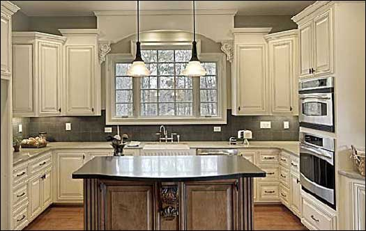 Kitchens... change color love the set up | Home, Home ...