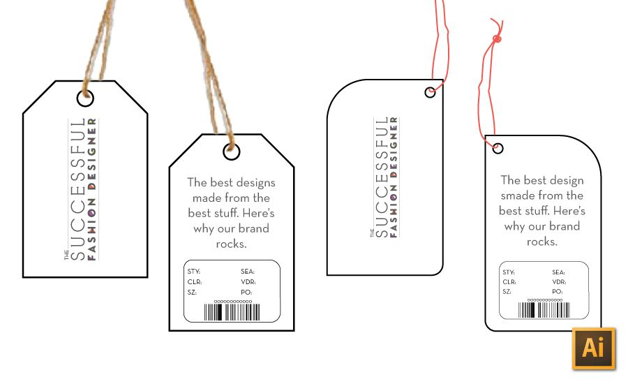 How To Make A Hangtag In Illustrator And Photoshop Fashion