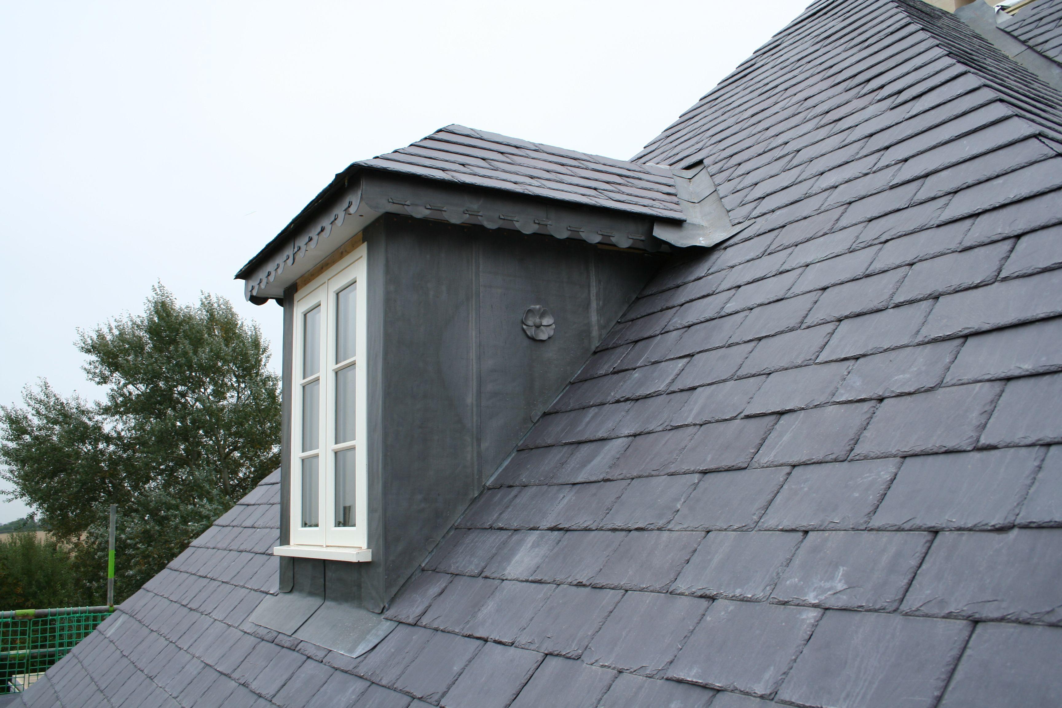 Dormer Window With Lead Cheeks And Slate Roof Dormer