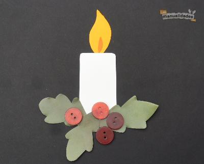 Tarjetas de navidad con botones navidad tarjetas y - Tarjeta de navidad para ninos manualidades ...