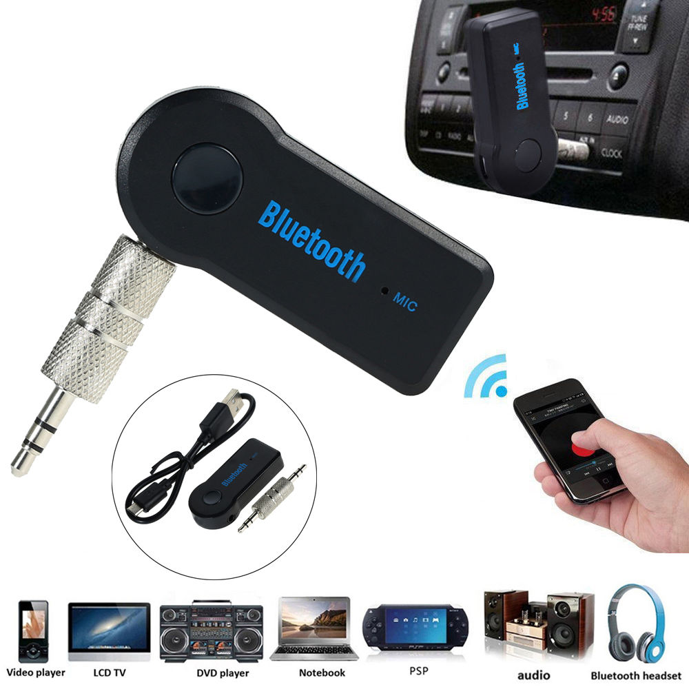 4 18 Wireless Bluetooth 3 5mm Aux Audio Stereo Music Home Car