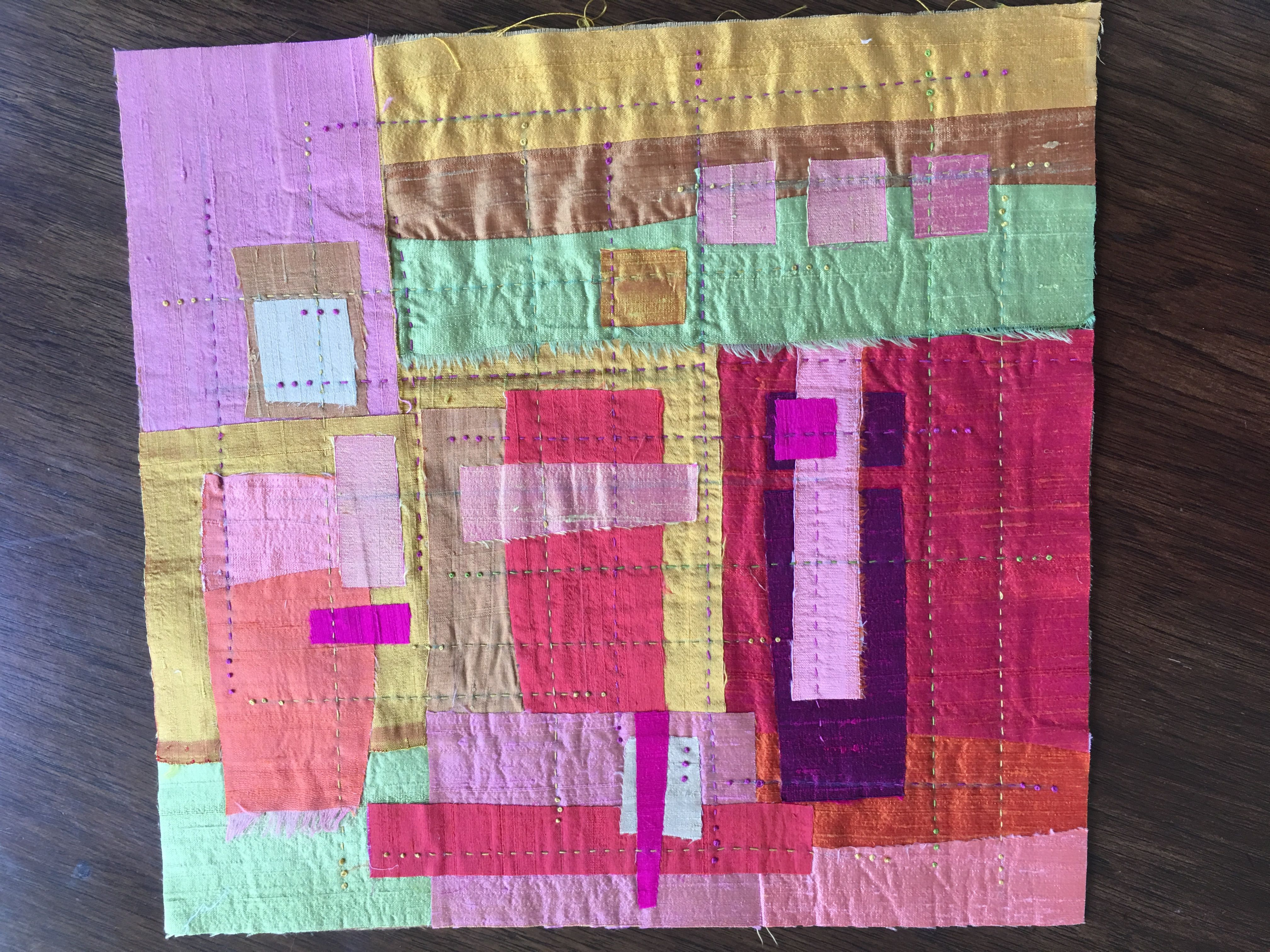 Silk Quilt Sample by Alex Anderson