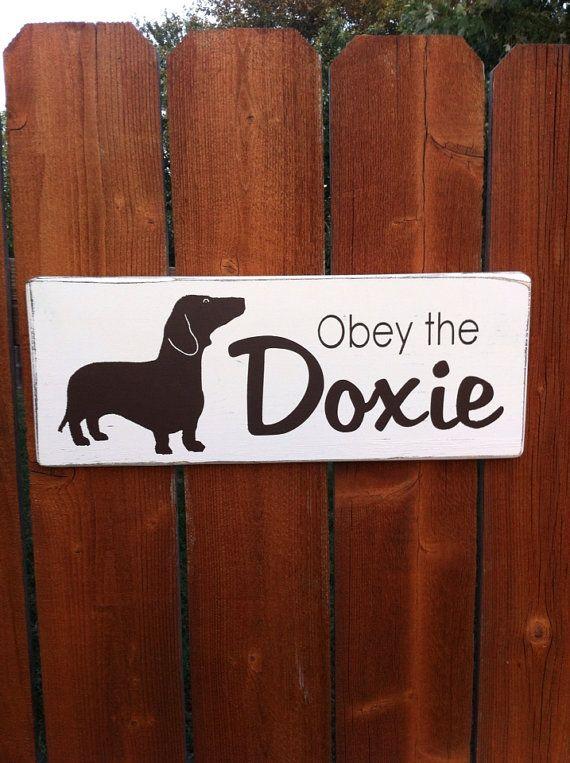 Dachshund Sausage Dog Gift Sign